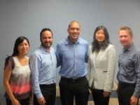 Pictured left to right: Angelica Jongco, Guillermo Mayer, Dimitri Holtzman, Titi Liu and John Affeldt